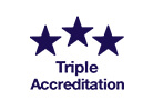 Tried, tested, triple accredited