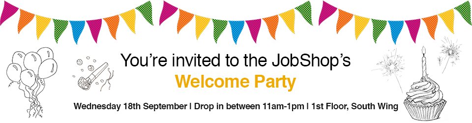 JS Welcome party web banner