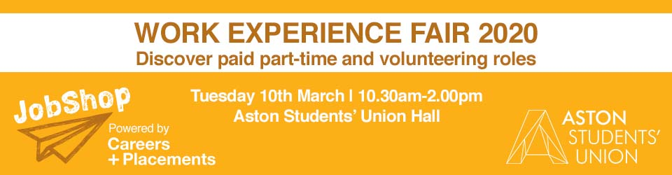 Work Experience Fair C+P web banner 2020