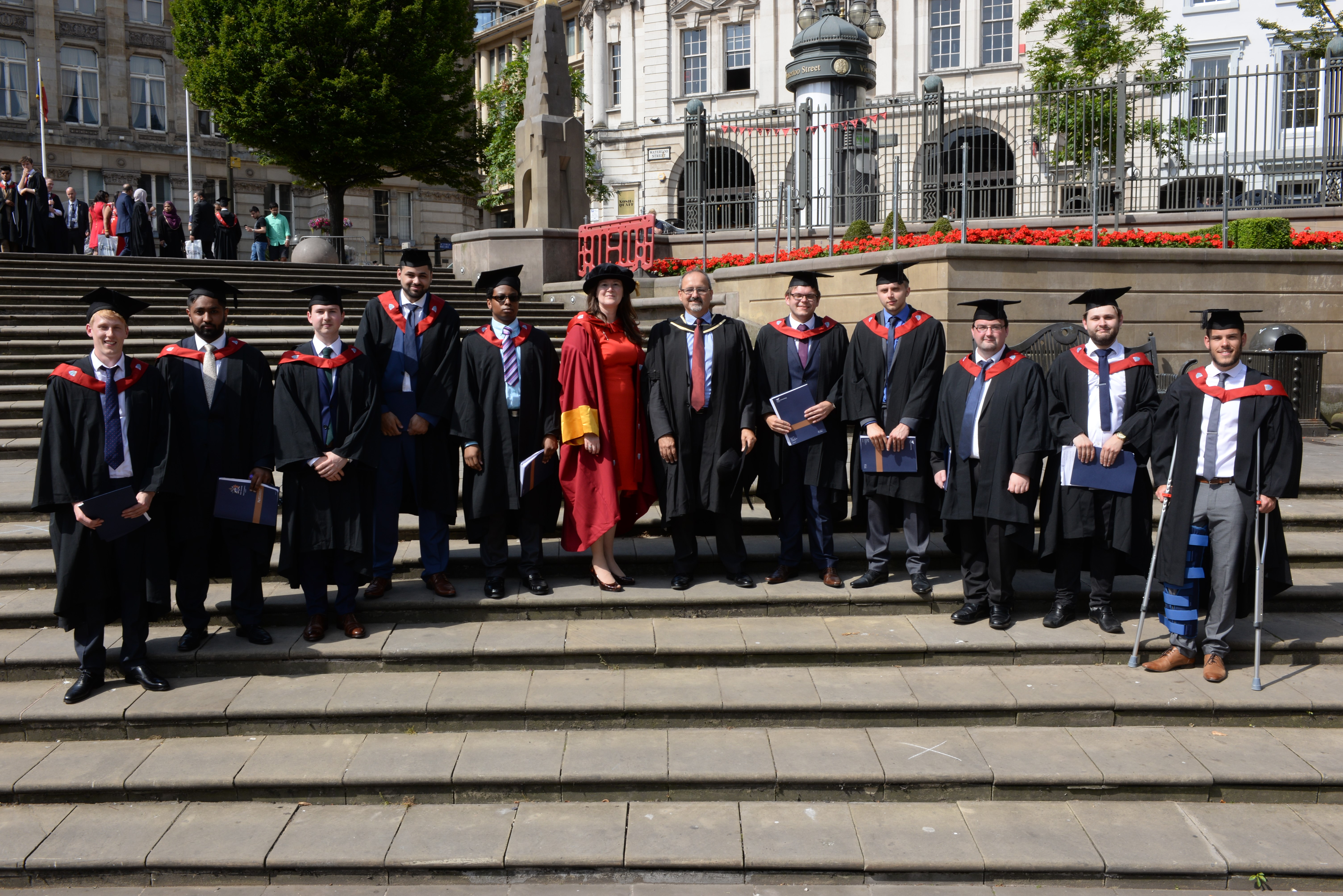 Degree apprentice graduates with Sue Husband