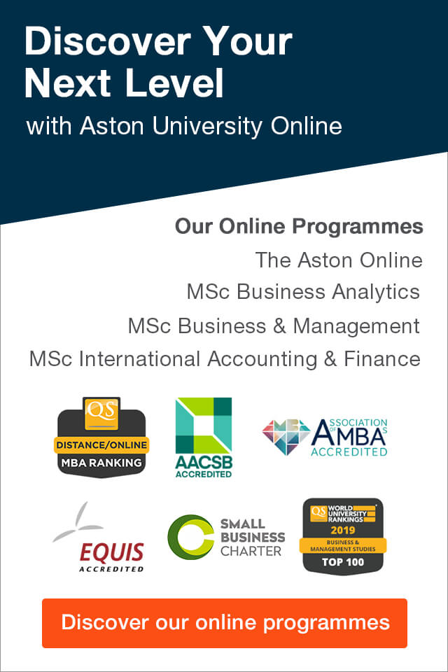 Discover your next level with Aston university online