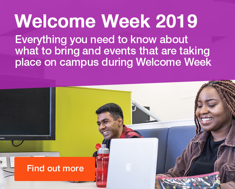 Welcome Week 2019 - find out more