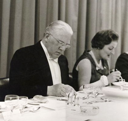 Sir Peter at the Charter dinner, 1966