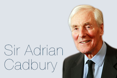 50 Greats landing page: Sir Adrian Cadbury