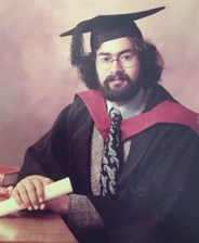 Farhan Sharaff on the day of his graduation in 1974