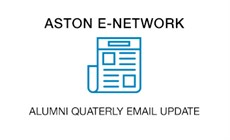 Aston E-Network email update