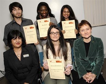 peer mentoring award winners 2011