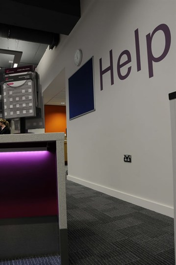 Library help desk & information point