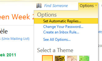 Student Email / Outlook Live - Setup Automatic Replies on Outlook