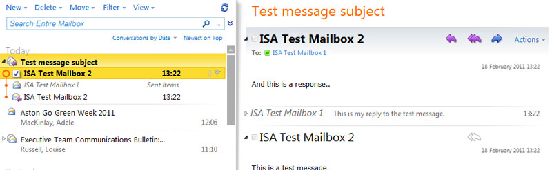 Student Email / Outlook Live - About Conversation View on Outlook