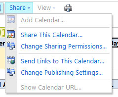 Manage access to your Shared Calendar