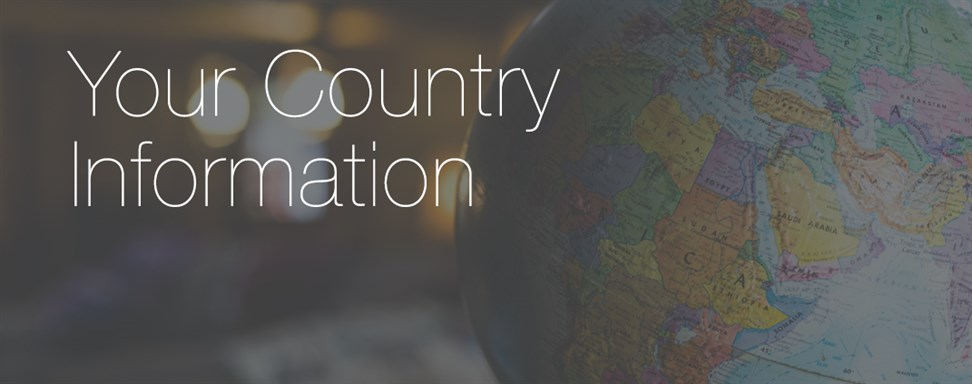 Your country information (international students)