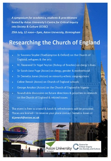 CCISC Event: Researching the Church of England