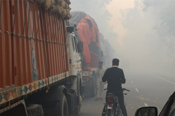 The effects of open field burning in India