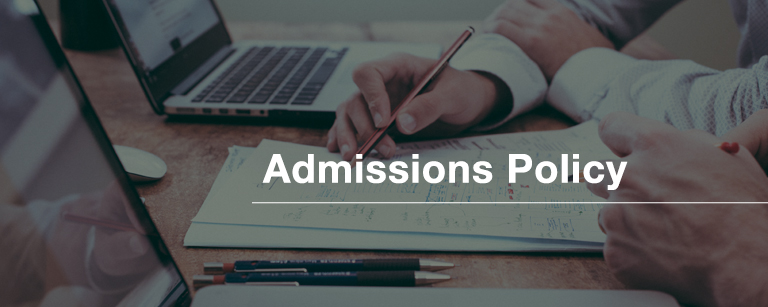 Admissions Policy Aston