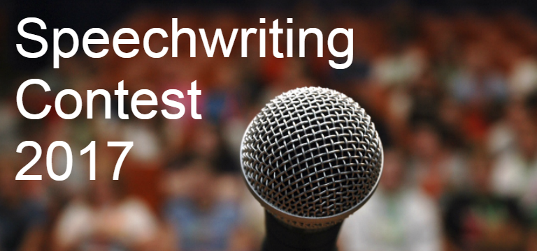 Speechwriting Contest Banner