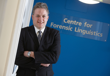 Centre for Forensic Linguistics on CrimeWatch