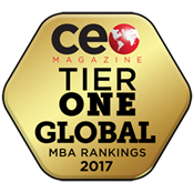 CEO Magazine Global MBA Ranking - Tier One badge